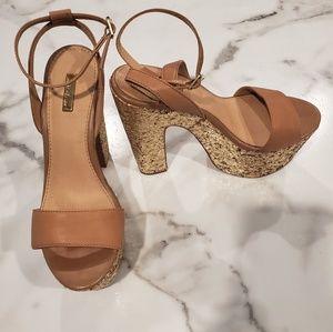Wild Pair glitter platform heels